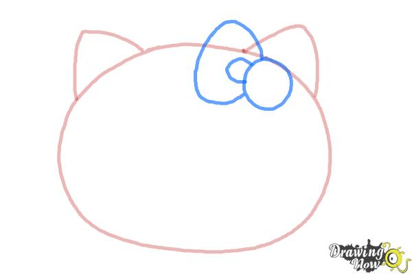 How to Draw Hello Kitty Step by Step - Step 3