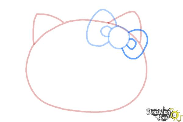 How to Draw Hello Kitty Step by Step - Step 4