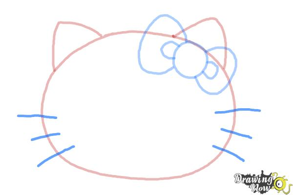 How to Draw Hello Kitty Step by Step - Step 5