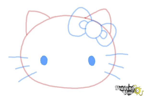 How to Draw Hello Kitty Step by Step - Step 6