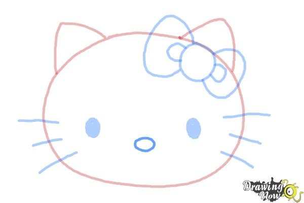 How to Draw Hello Kitty Step by Step - Step 7