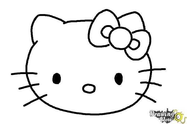 How to Draw Hello Kitty Step by Step - Step 8