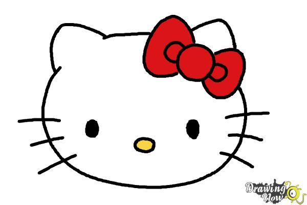 How to Draw Hello Kitty Step by Step - Step 9