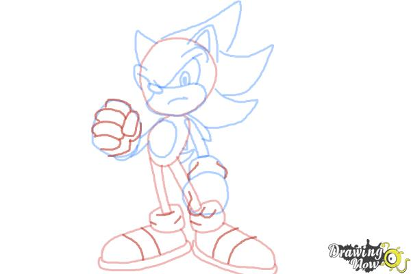 How to Draw Super Sonic - Step 10