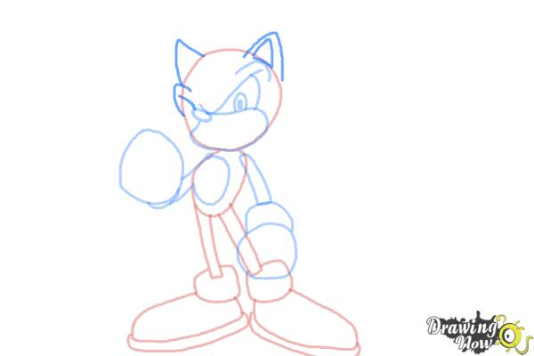 How to Draw Super Sonic - Step 8