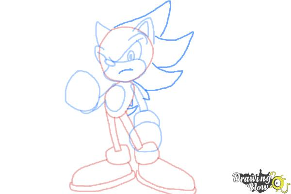 How to Draw Super Sonic - Step 9