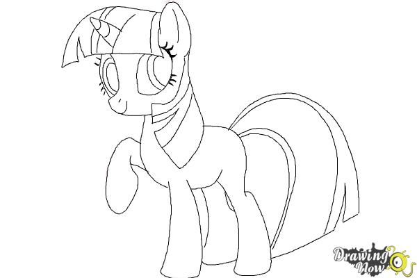 how to draw my little pony step by step step 10