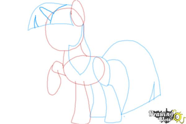 How to Draw My Little Pony Step by Step - Step 7
