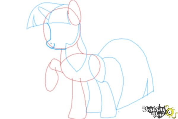 How to Draw My Little Pony Step by Step - Step 8