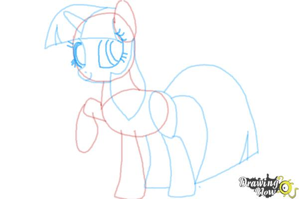 How to Draw My Little Pony Step by Step - Step 9