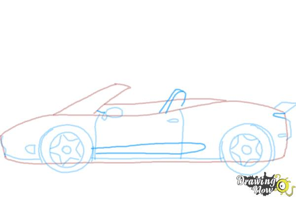 How to draw a car easy step 7