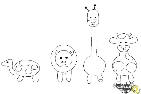 how to draw simple animals step 13 - Simple Pictures To Trace