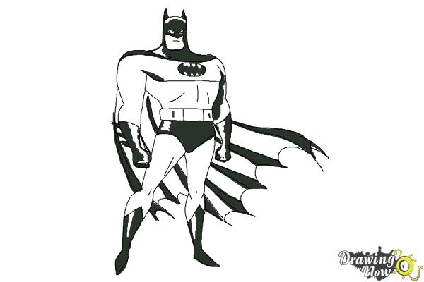 How to Draw Batman Easy - Step 10