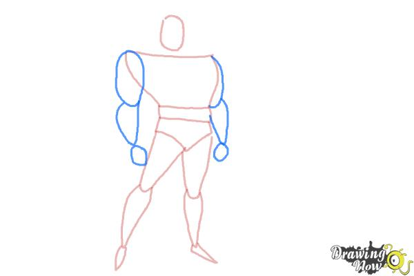 How to Draw Batman Easy - Step 5