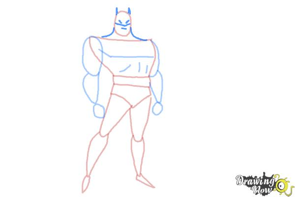 How to Draw Batman Easy - Step 7