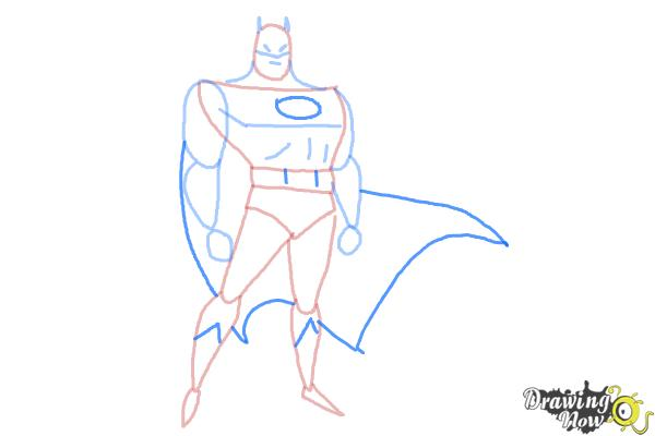 How to Draw Batman Easy - Step 8
