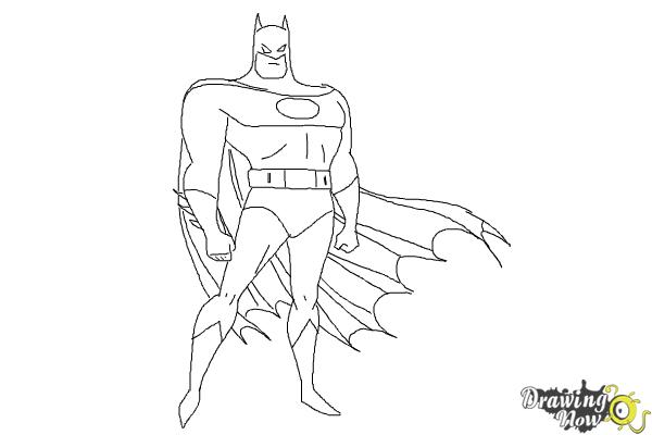 How to Draw Batman Easy - Step 9