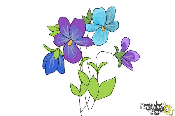 How to Draw Simple Flowers - DrawingNow