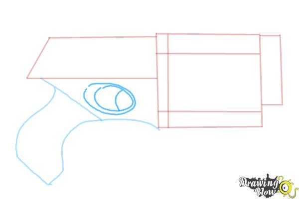 How to Draw a Nerf Gun - Step 4