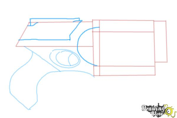 How to Draw a Nerf Gun - Step 5