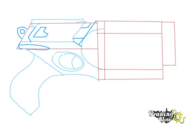 How to Draw a Nerf Gun - Step 6