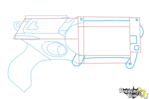 How to Draw a Nerf Gun - Step 7