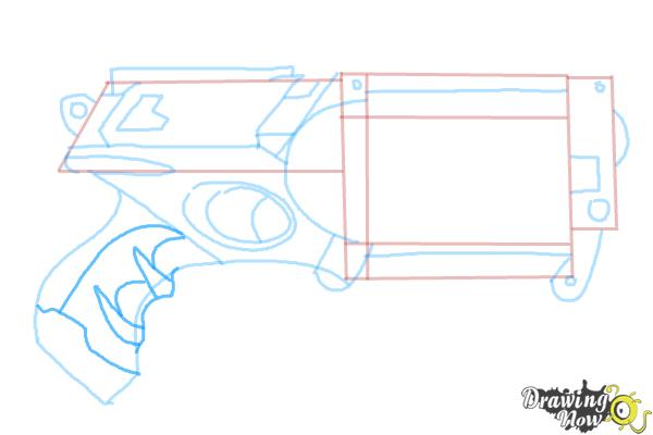 How to Draw a Nerf Gun - Step 8
