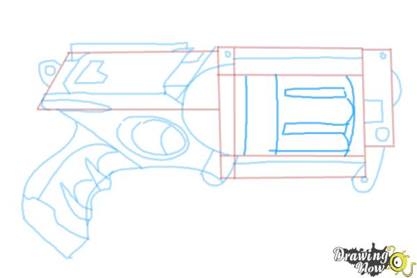 How to Draw a Nerf Gun - Step 9