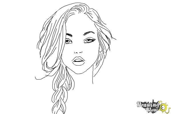 How to draw a pretty girl drawingnow for Steps to draw a girl