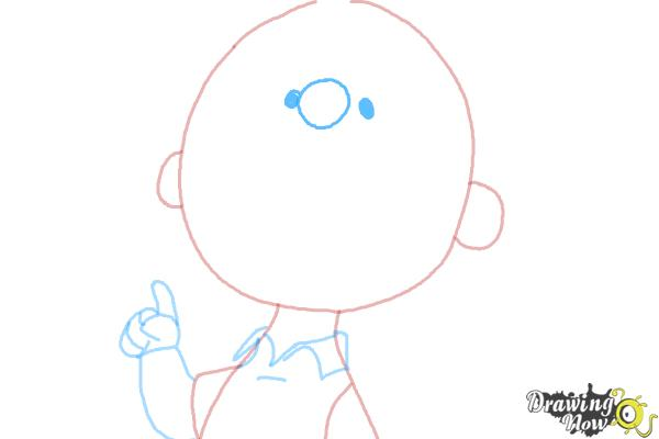 How to Draw Charlie Brown from The Peanuts Movie - Step 6