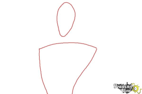 How to Draw Dracula from Hotel Transylvania 2 - Step 1