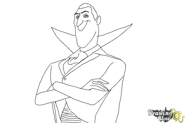 How to Draw Dracula from Hotel Transylvania 2 DrawingNow