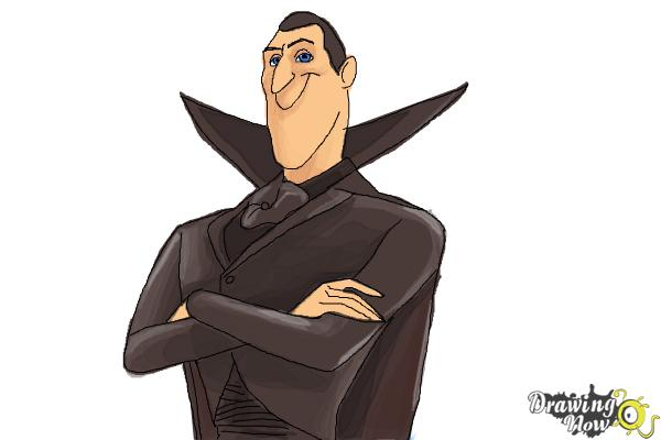 How to Draw Dracula from Hotel Transylvania 2 - Step 11
