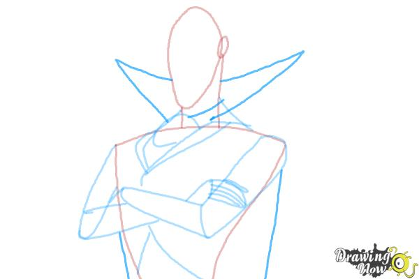 How to Draw Dracula from Hotel Transylvania 2 - Step 7