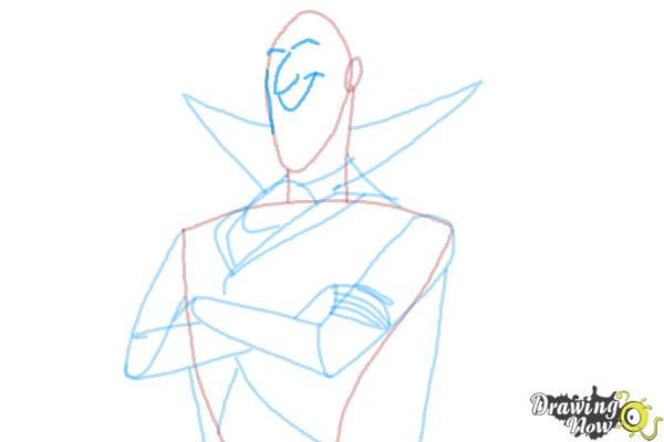 How to Draw Dracula from Hotel Transylvania 2 - Step 8