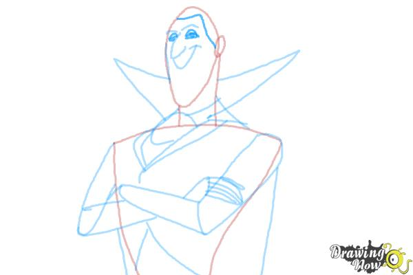 How to Draw Dracula from Hotel Transylvania 2 - Step 9