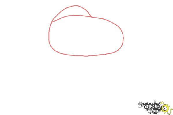 How to Draw Snoopy from The Peanuts Movie - Step 1