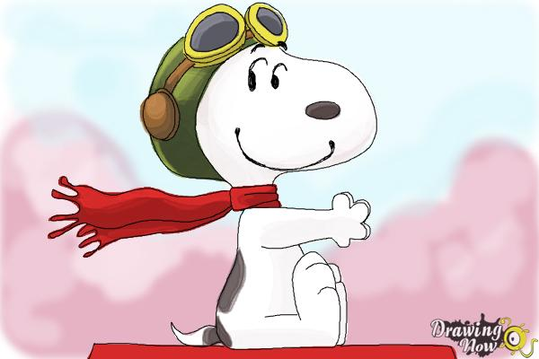 How to Draw Snoopy from The Peanuts Movie - Step 10