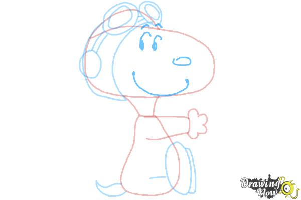 How to Draw Snoopy from The Peanuts Movie - Step 7