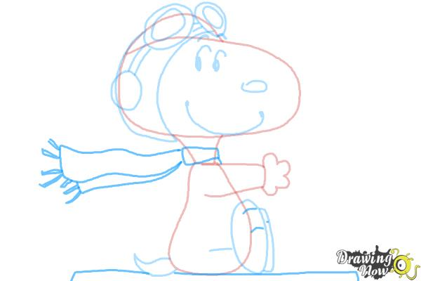 How to Draw Snoopy from The Peanuts Movie - Step 8
