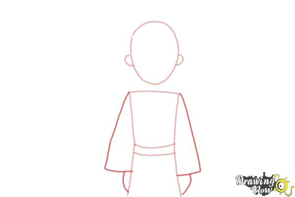 How to Draw The Little Prince - Step 3