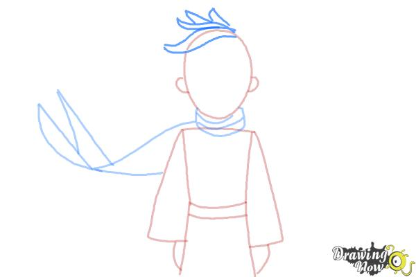 How to Draw The Little Prince - Step 6