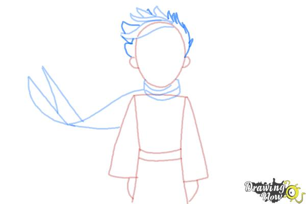 How to Draw The Little Prince - Step 7