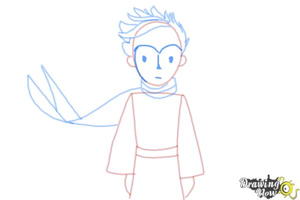 How to Draw The Little Prince - Step 8