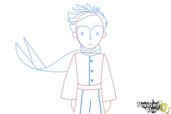 How to Draw The Little Prince - Step 9