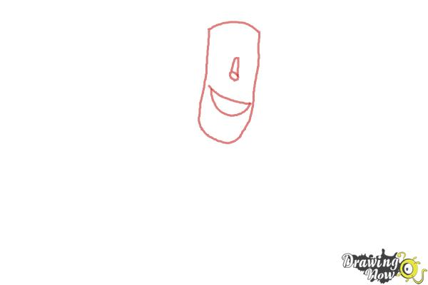 How to Draw Frankenstein from Hotel Transylvania 2 - Step 1