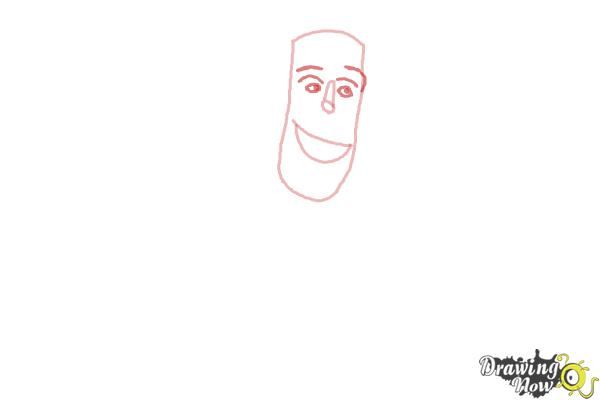 How to Draw Frankenstein from Hotel Transylvania 2 - Step 2