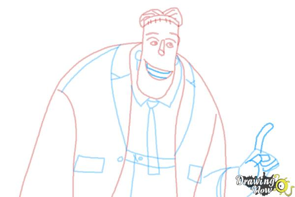 How to Draw Frankenstein from Hotel Transylvania 2 - Step 8