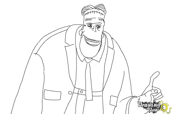 How to Draw Frankenstein from Hotel Transylvania 2 - Step 9