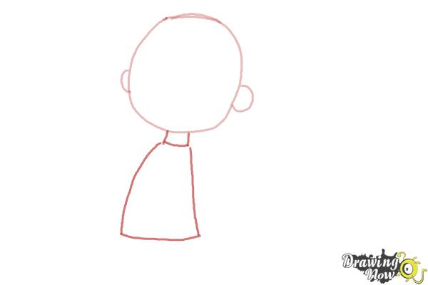 How to Draw Pig Pen from The Peanuts Movie - Step 2